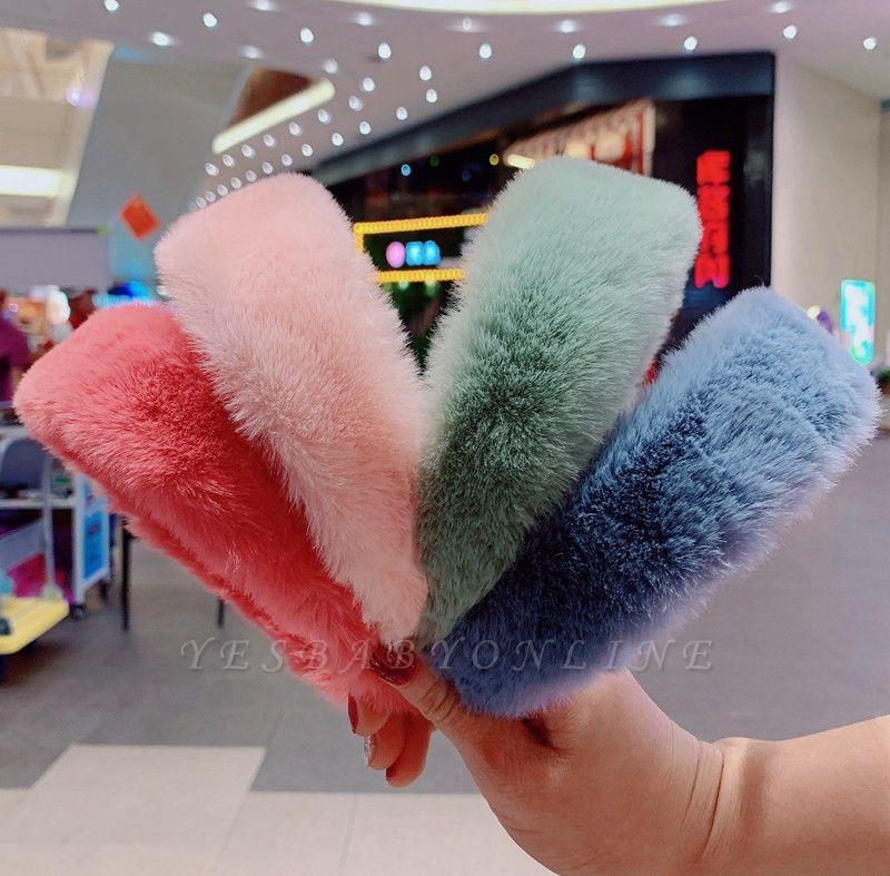 Sweet Retro Women Elegant Rabbit Fur Hairbands Hair Accessories Headbands Soft Cute Ladies Winter Fur Headband