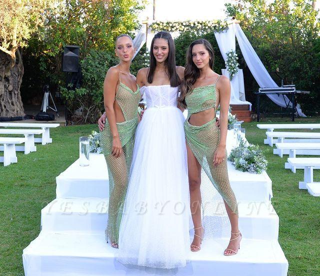 Vintage Sleeveless Lime Green Mermaid Prom Dresses