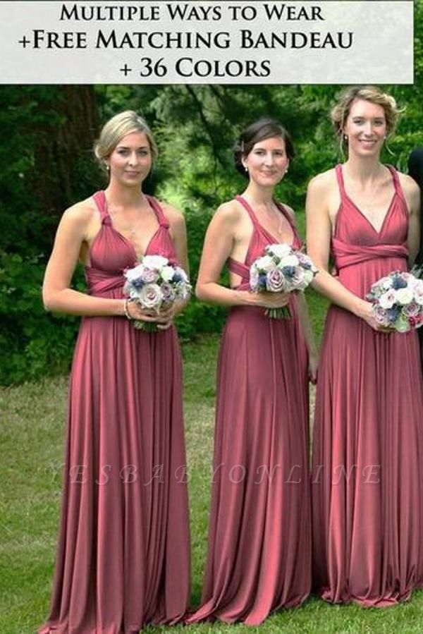 Sweetheart Satin Dark Pink Ruffles A-Line Bridesmaid Dresses