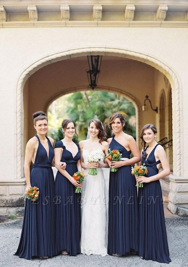 Navy Blue Multiway Infinity Bridesmaid Dresses | Convertible Wedding Party Dress