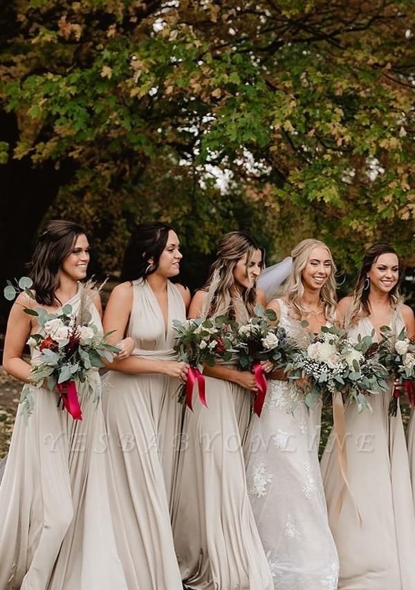Silver Grey Multiway Infinity Bridesmaid Dresses | Convertible Wedding Party Dress