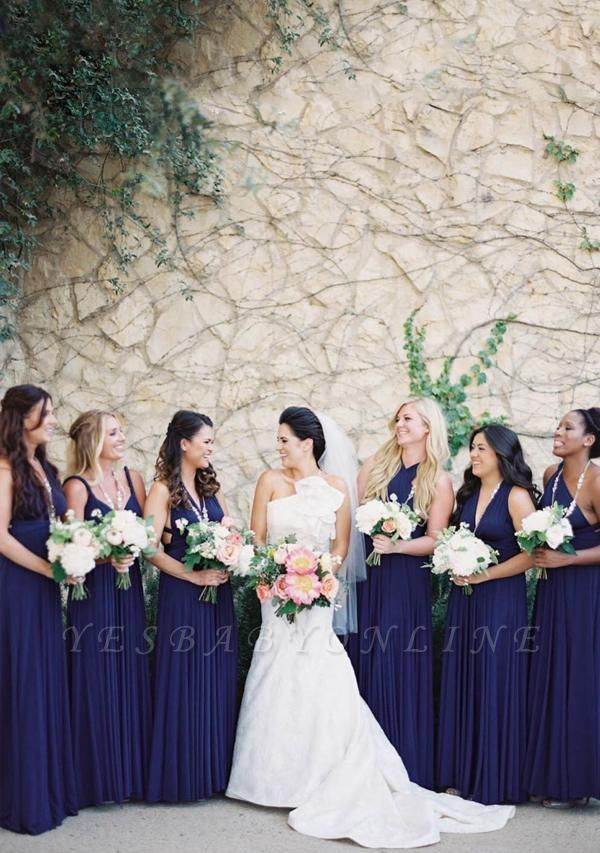 Midnight Blue Multiway Infinity Bridesmaid Dresses   Convertible Wedding Party Dress