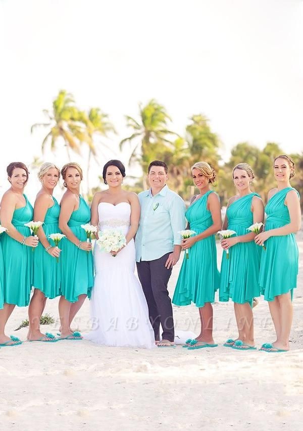 Turquoise Multiway Infinity Bridesmaid Dresses   Convertible Wedding Party Dress