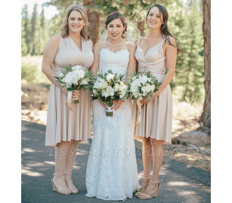 Multiway Infinity Short Bridesmaid Dresses   Convertible Wedding Party Dress