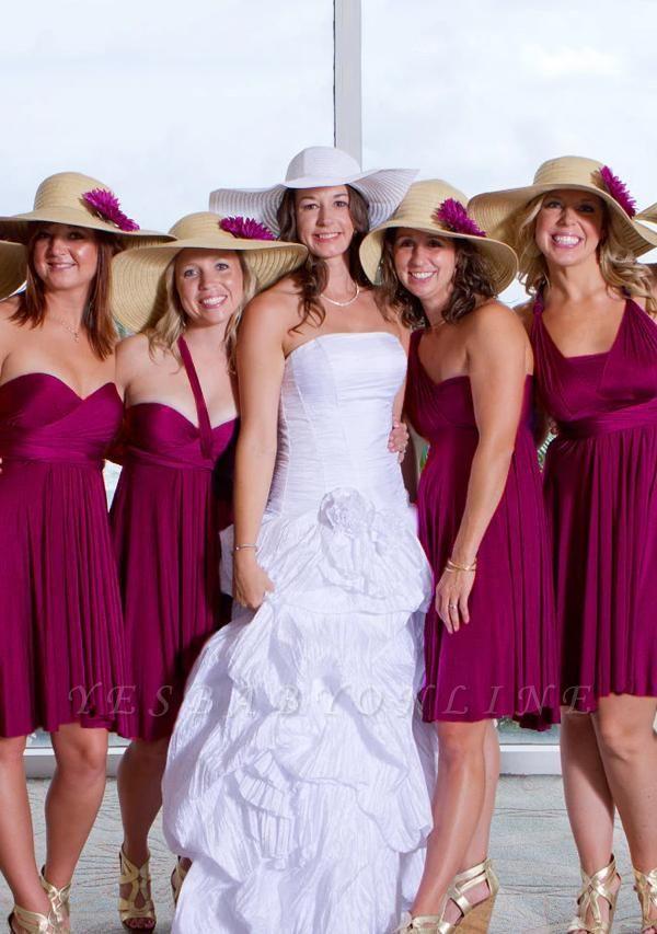Plum Multiway Infinity Bridesmaid Dresses | Convertible Wedding Party Dress