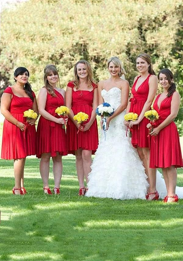 Red Multiway Infinity Bridesmaid Dresses   Convertible Wedding Party Dress