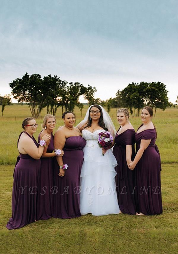Dark Purple Multiway Infinity Bridesmaid Dresses | Convertible Wedding Party Dress