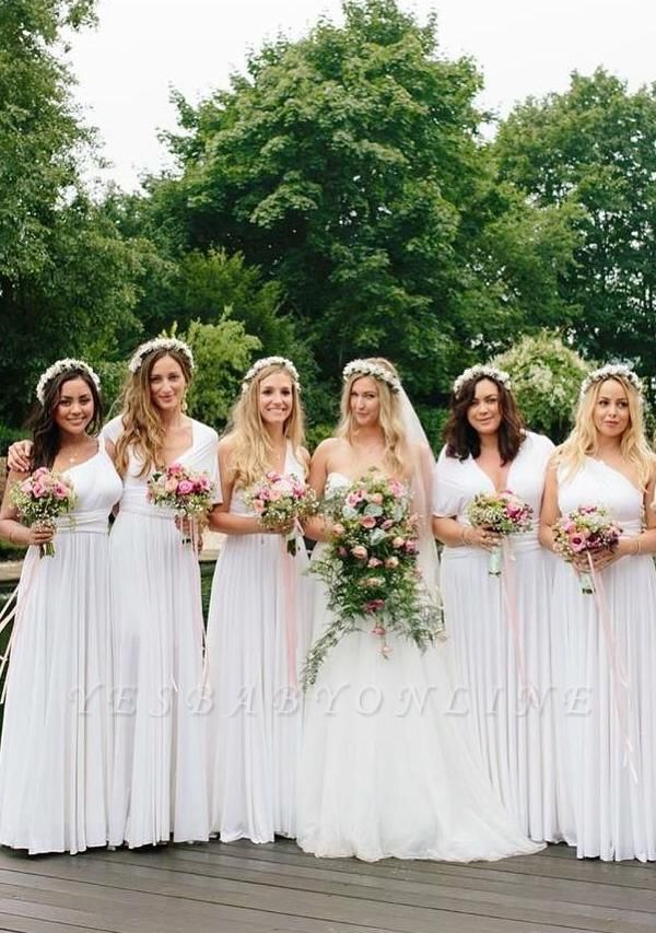 White Multiway Infinity Bridesmaid Dresses | Convertible Wedding Party Dress