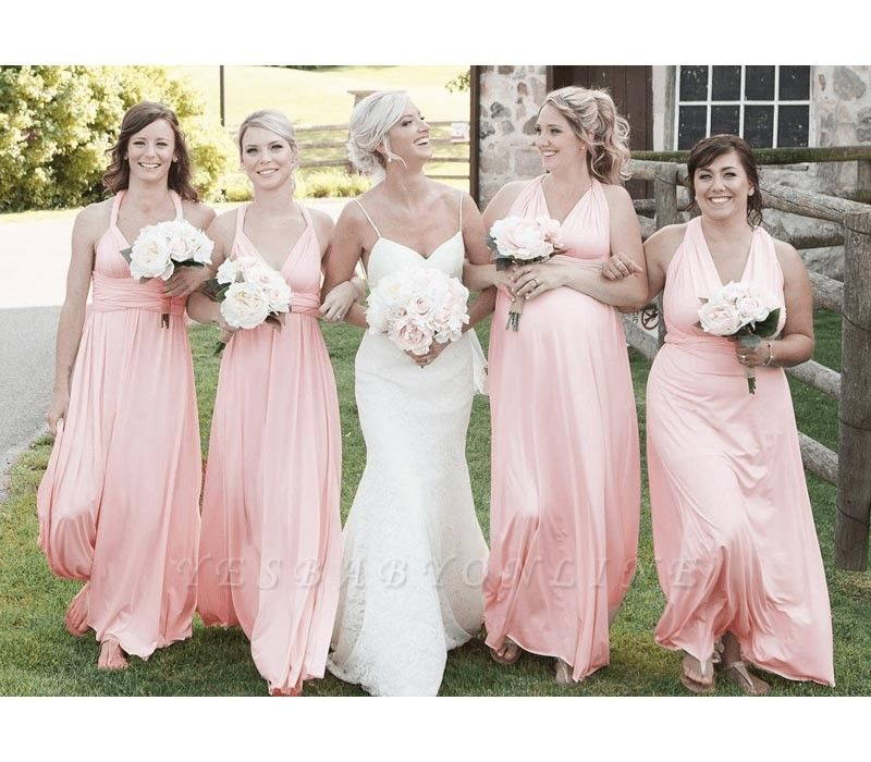 Blush Multiway Infinity Bridesmaid Dresses   Convertible Wedding Party Dress