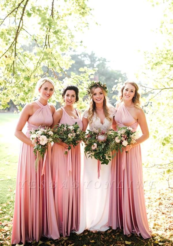 Blush Pink Multiway Infinity Bridesmaid Dresses | Convertible Wedding Party Dress