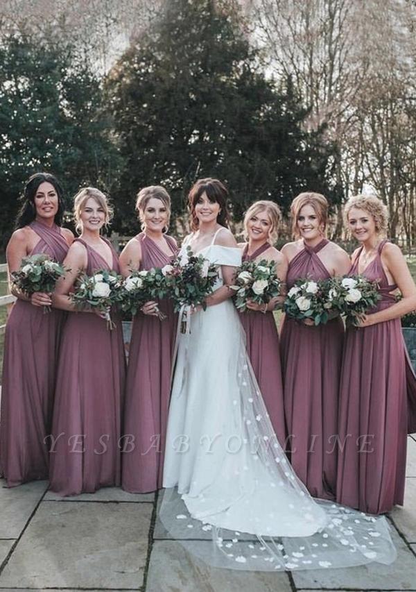 Mauve Multiway Infinity Bridesmaid Dresses   Convertible Wedding Party Dress