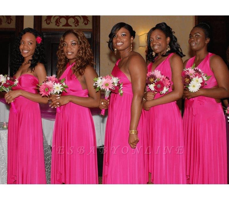Fuchsia Multiway Infinity Bridesmaid Dresses   Convertible Wedding Party Dress