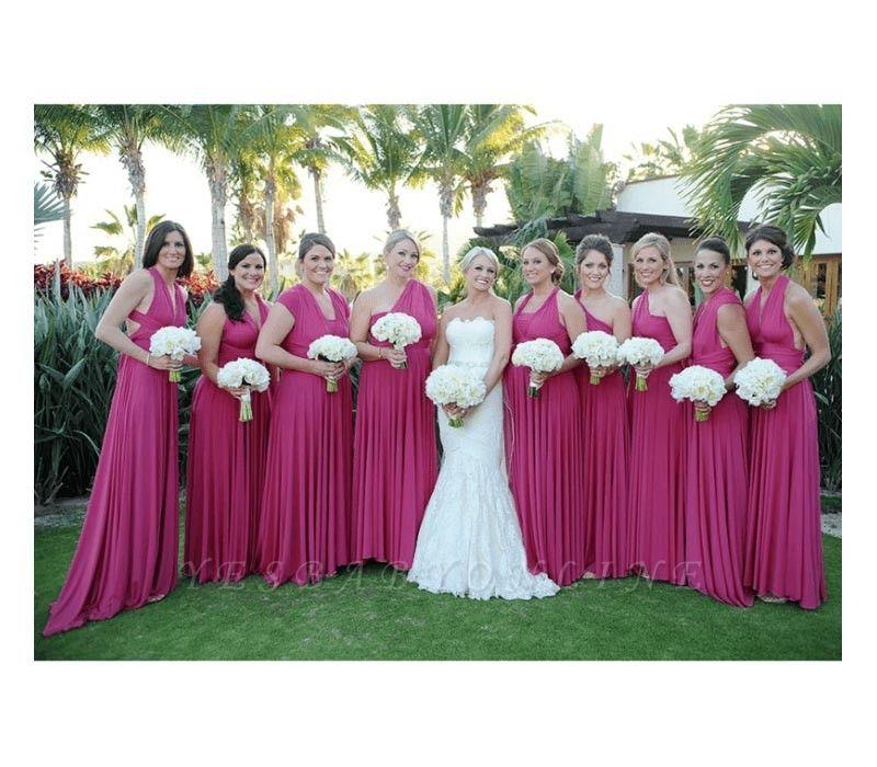 Magenta Multiway Infinity Bridesmaid Dresses | Convertible Wedding Party Dress
