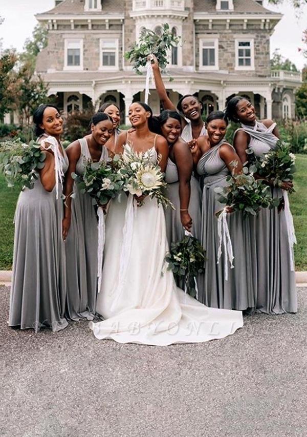 Grey Multiway Infinity Bridesmaid Dresses | Convertible Wedding Party Dress