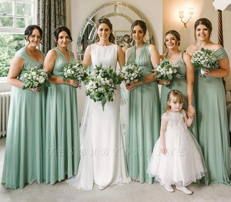 Sage Green Multiway Infinity Bridesmaid Dresses   Convertible Wedding Party Dress