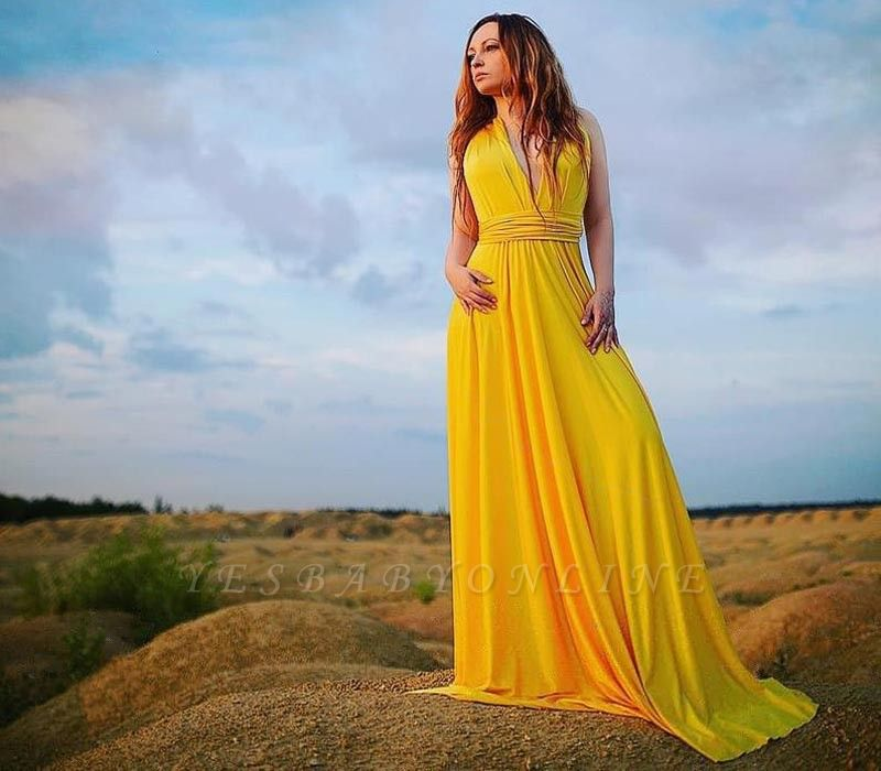 Yellow Multiway Infinity Bridesmaid Dresses | Convertible Wedding Party Dress