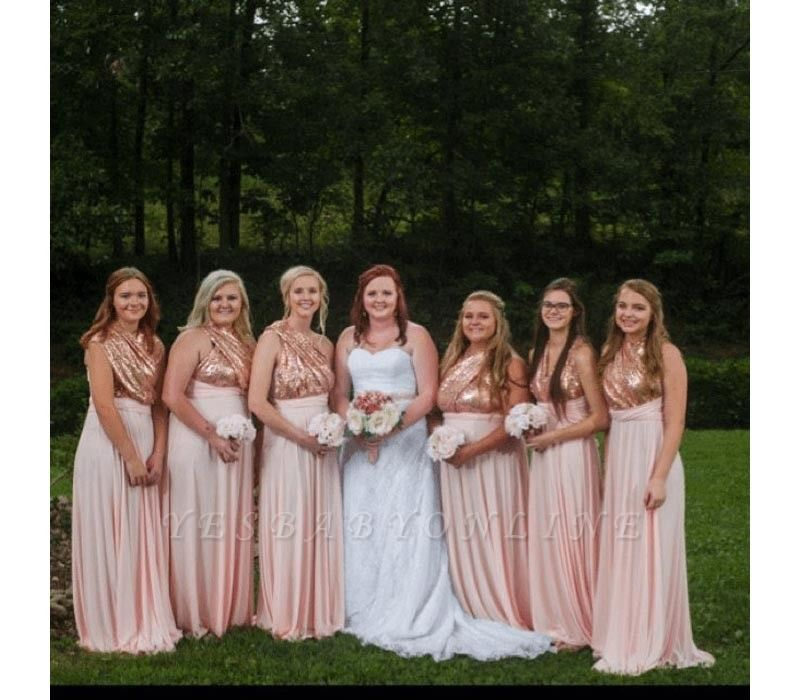 Multiway Infinity Sequin Bridesmaid Dresses | Convertible Wedding Party Dress