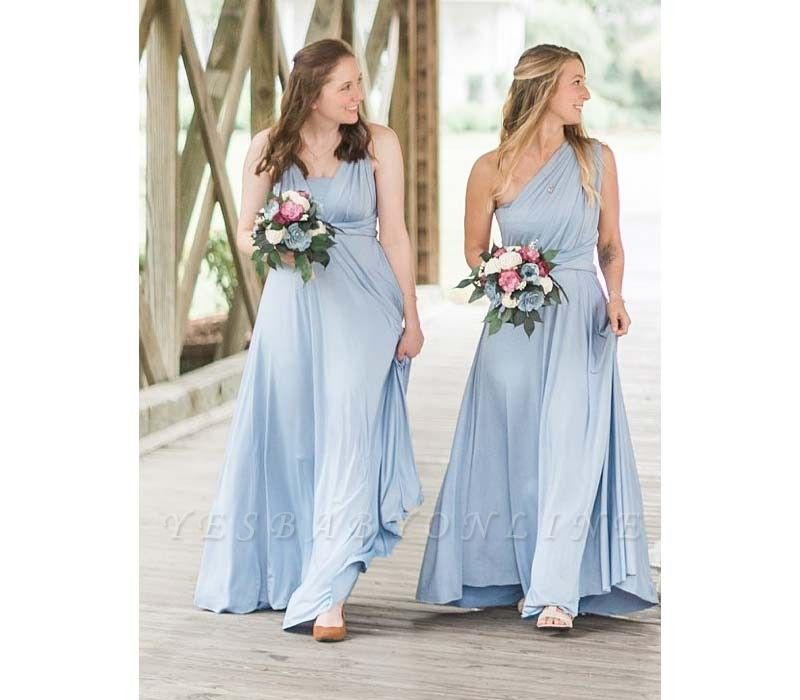 Baby Blue Multiway Infinity Bridesmaid Dresses | Convertible Wedding Party Dress