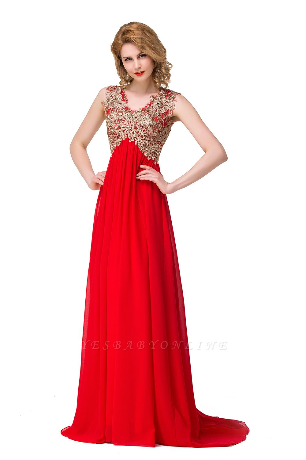 Cheap Long Prom Lace Dress Evening Dress with Sequins in Stock