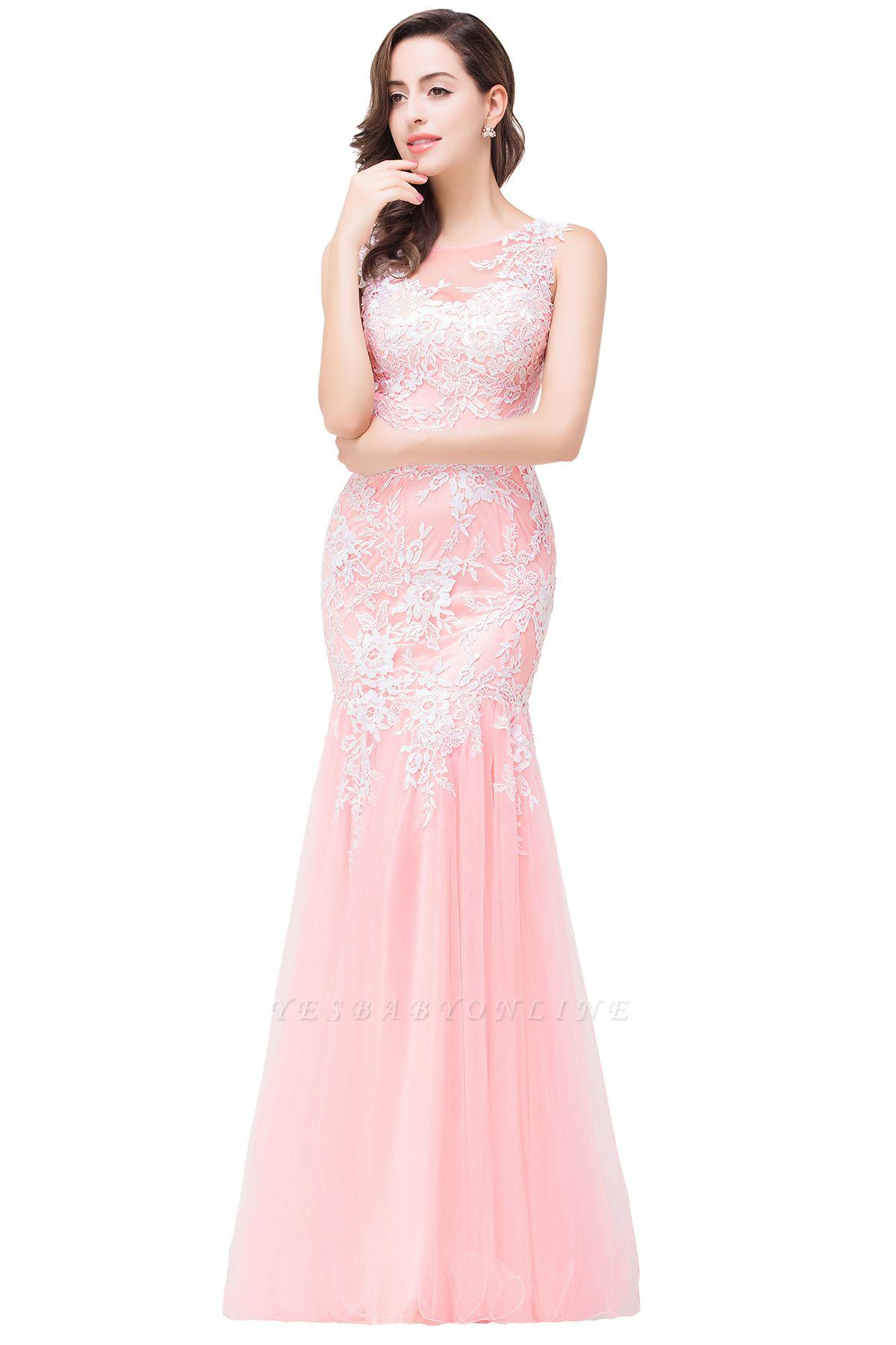 Long Lace Mermaid Sleeveless Maxi Prom Dress