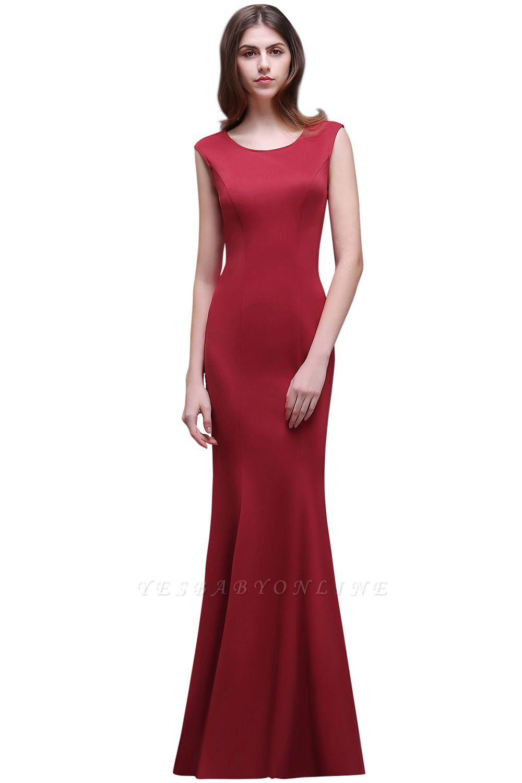 Sheath Scoop Floor-Length Elegant Evening Dresses