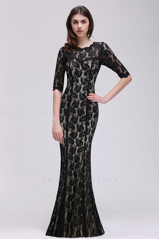 Mermaid Jewel Lace Black Sexy Evening Dresses