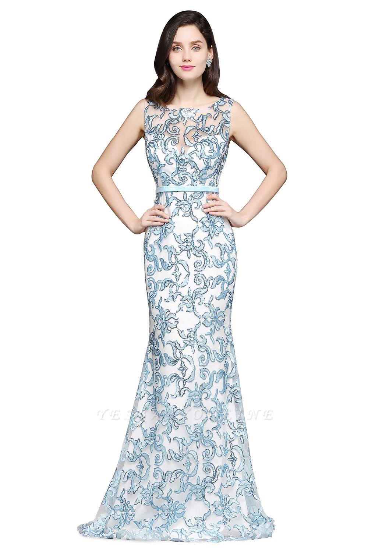 Mermaid Sweep Train Lace Evening Dresses