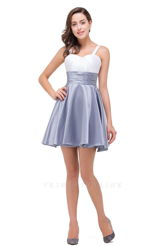 A-line Sleeveless Sweetheart Short Chiffon Prom Dresses