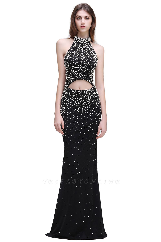 CADENCE | Mermaid Long Black Luxury Prom Dresses with Beading