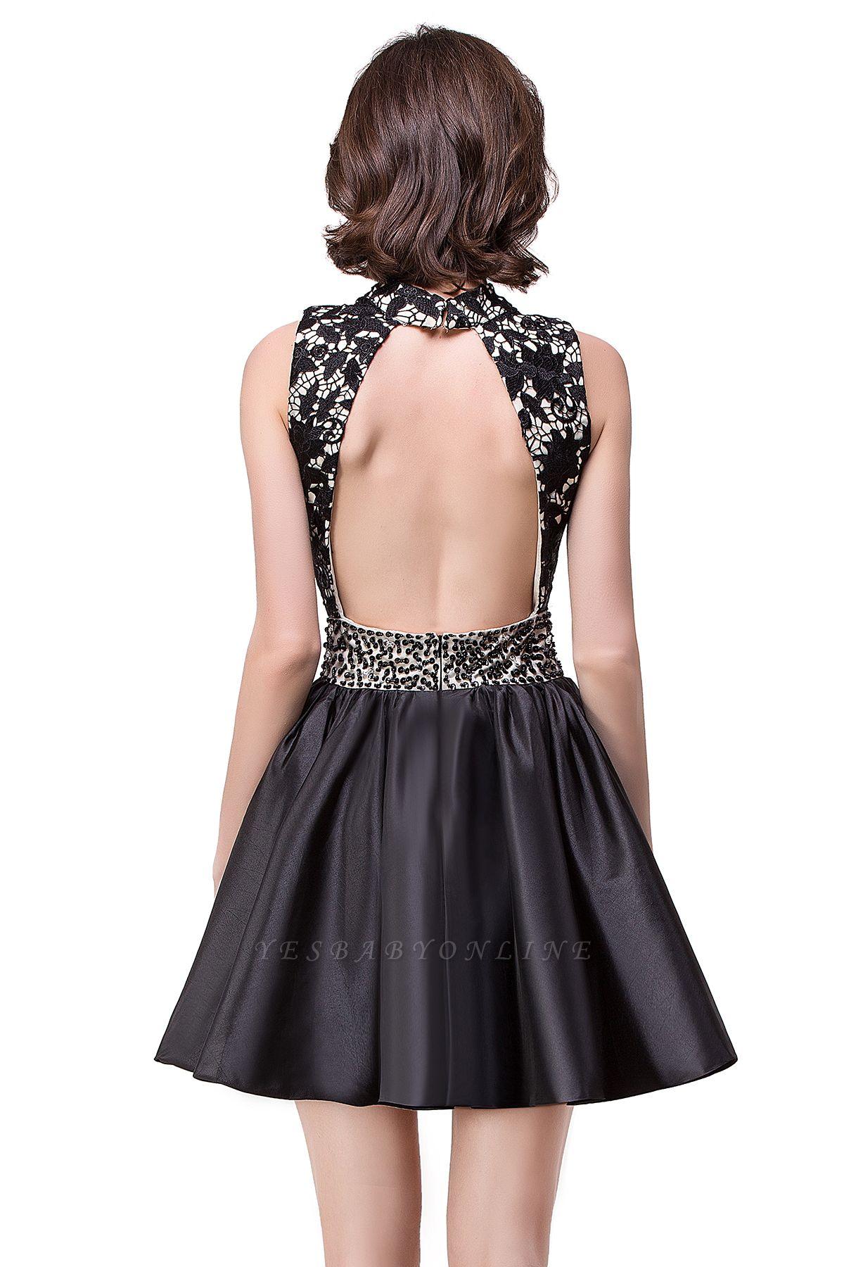 CECILIA | A-line Halter Lace Party Dress