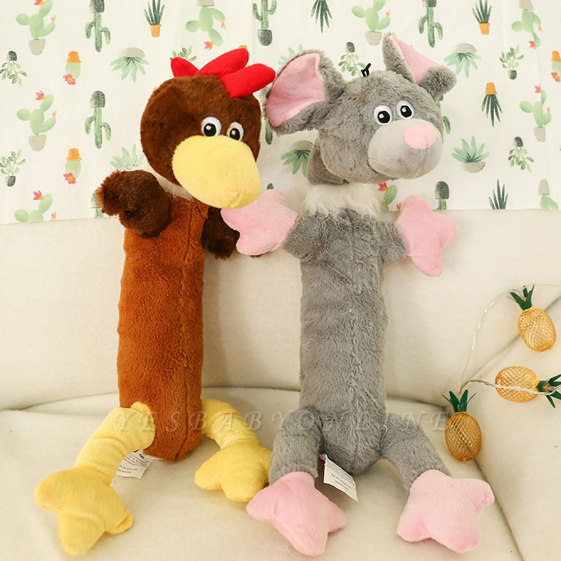 Plush Puppy Honking Squirrel For Dogs Cat Chew Squeak Toy Dog Goods|Cute Pet Dog Toys Chew Squeaker Animals Pet Toys
