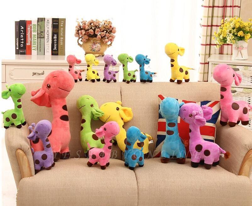Animal Dear doll Baby Kid Child Christmas Birthday Happy Colorful Gifts 18cm Unisex Cute Gift Plush Giraffe Soft Toy
