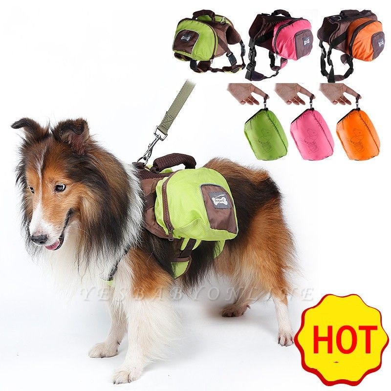 Cheap Dog Backpack Harness and Carrier for Hiking and Camping