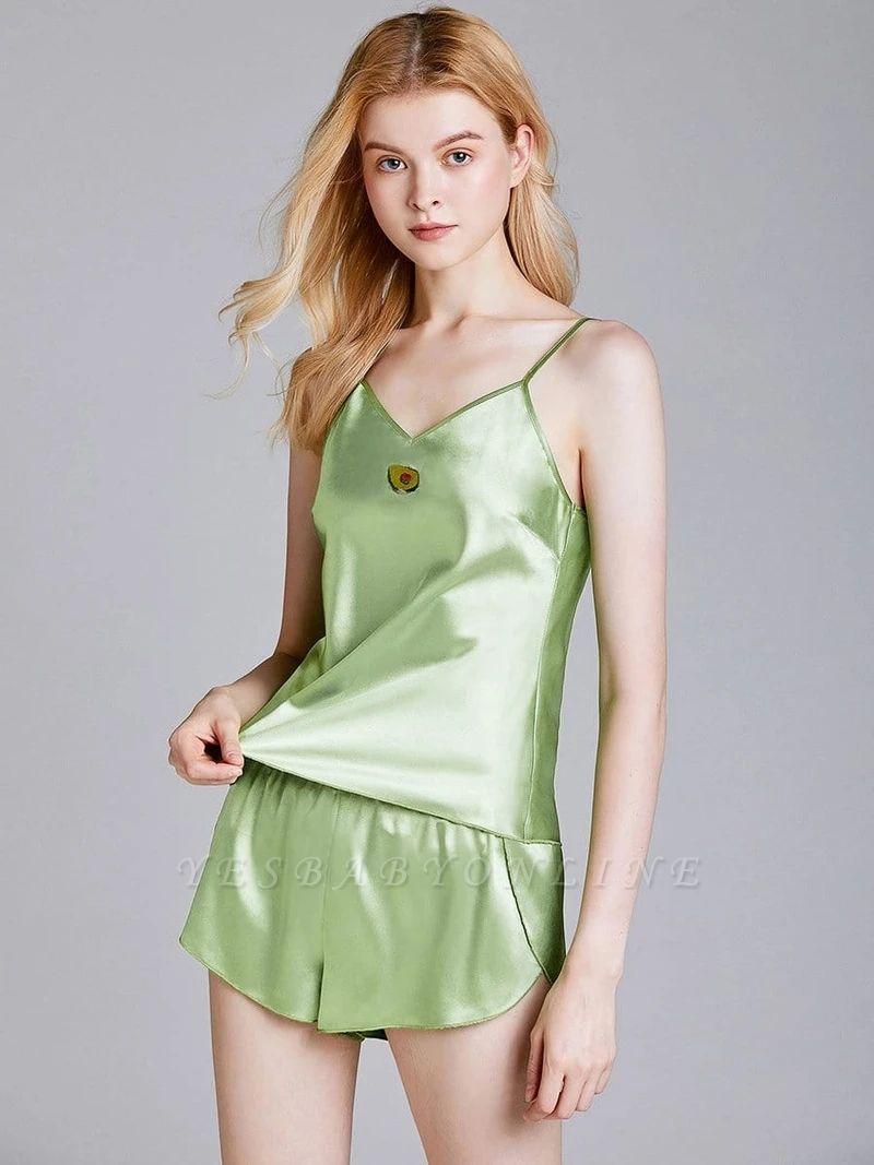 Imitate Silk Sleepwear Pajamas Set