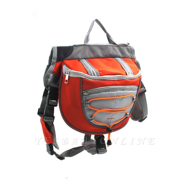 Cotton Canvas Dog Saddle Backpack for Medium & Large Dog