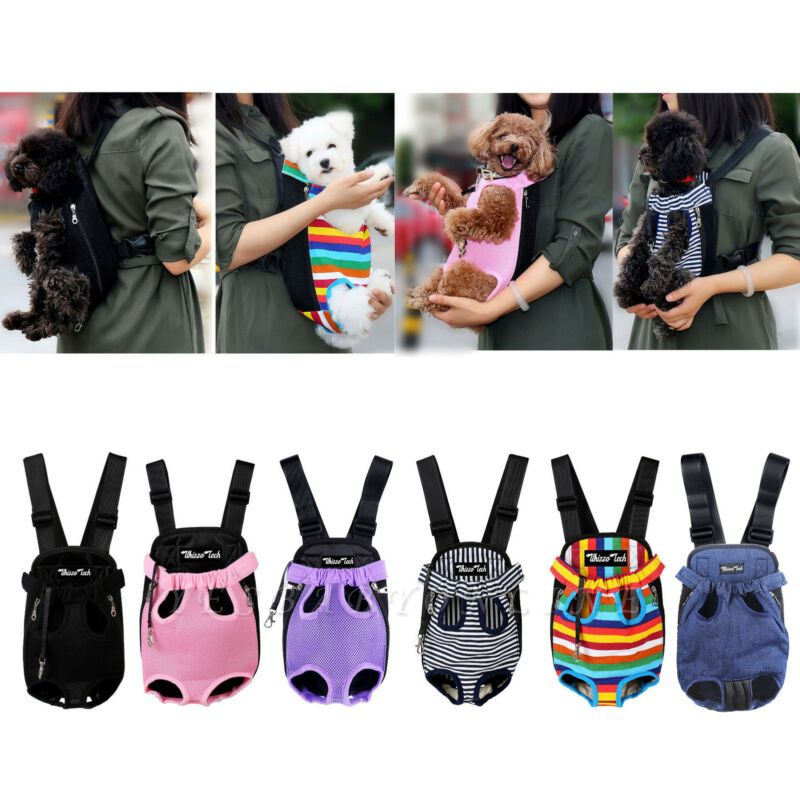 Pet Carrier Backpack Adjustable Pet Front Cat Dog Carrier