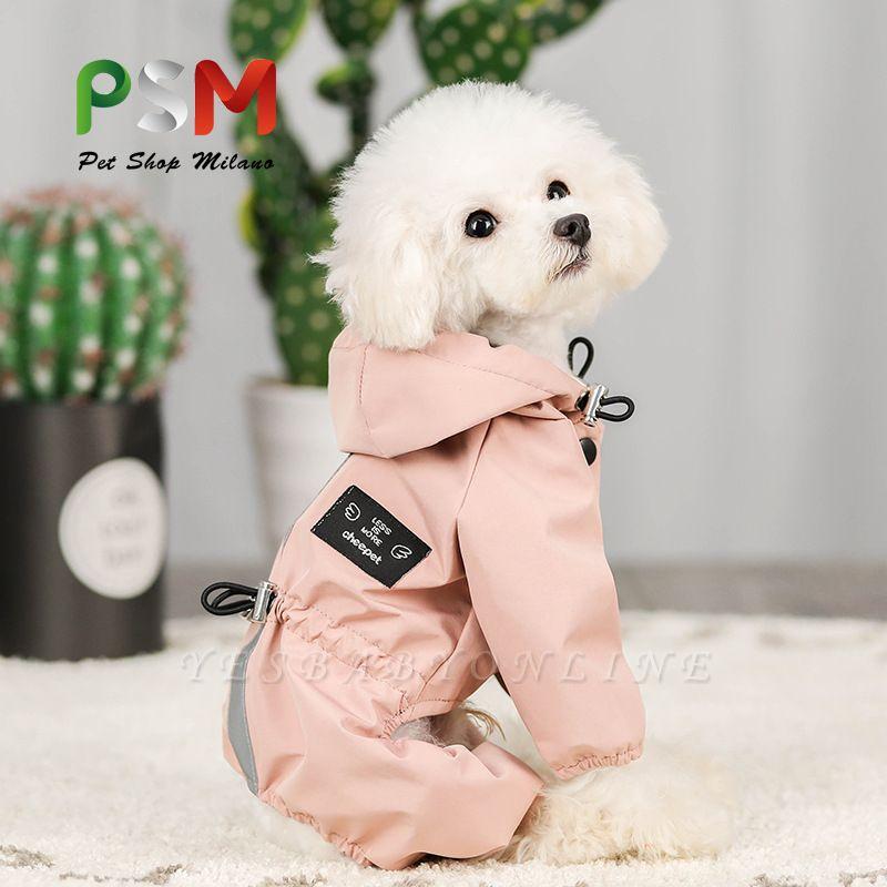 Cute Pink Summer Outdoor Puppy Pet Ruffwear Accessories Dog Rain Coat