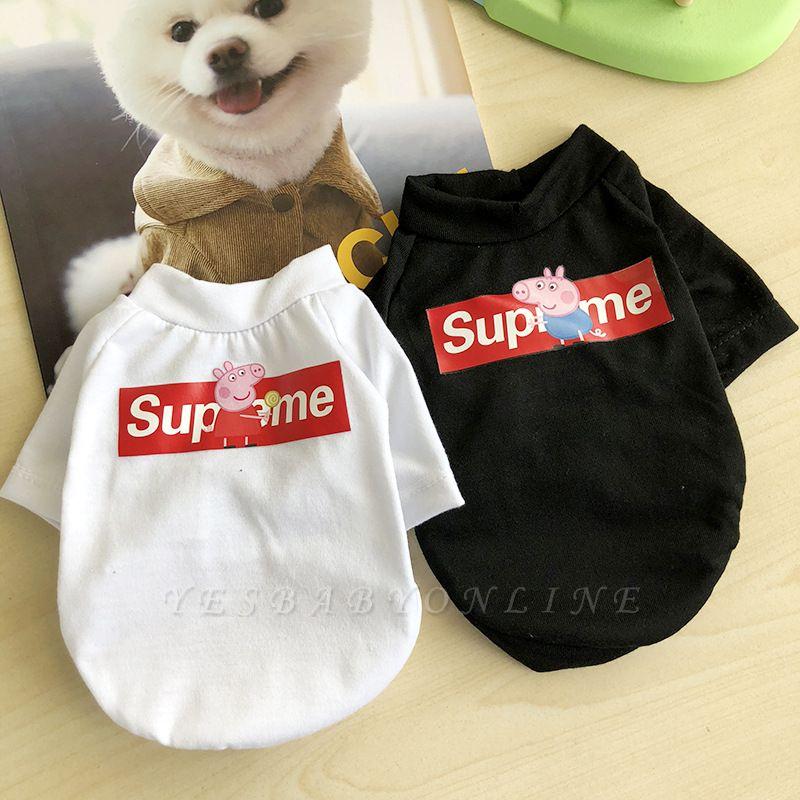 White And Black Short Sleeve Dog T-shirt | Pet Cloth Foe Small Pet