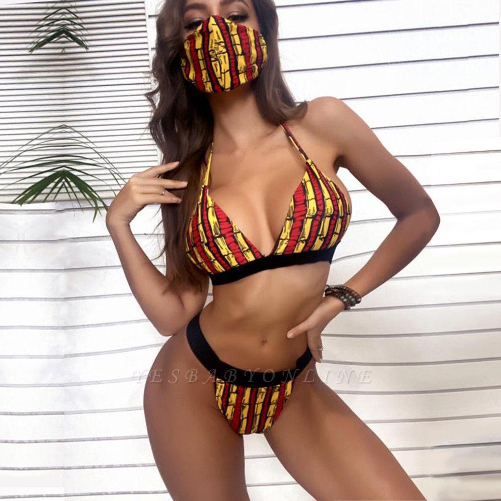 Beachwear With A Matching Face Mask 2021 Sexy Bikinis