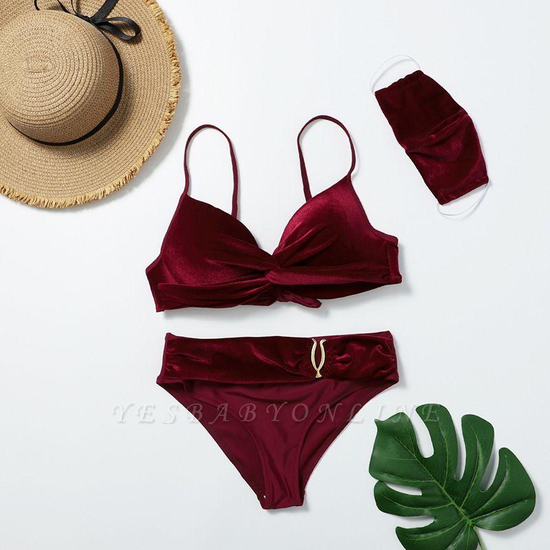 Fashionable Trikini with Matching Mask 2020 Trendy Beachwear