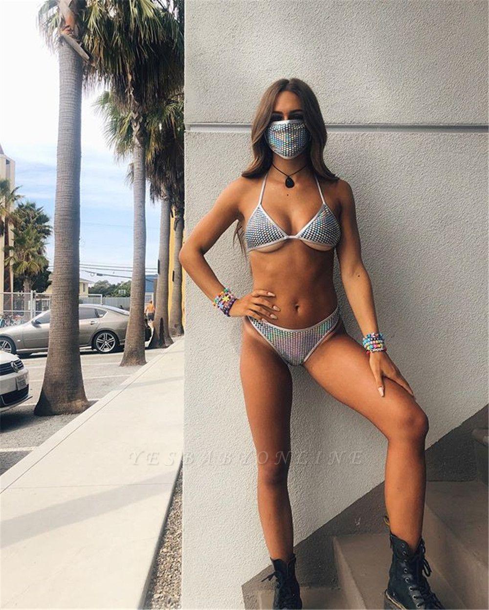 Sexy Split Swimwear with Matching Mask