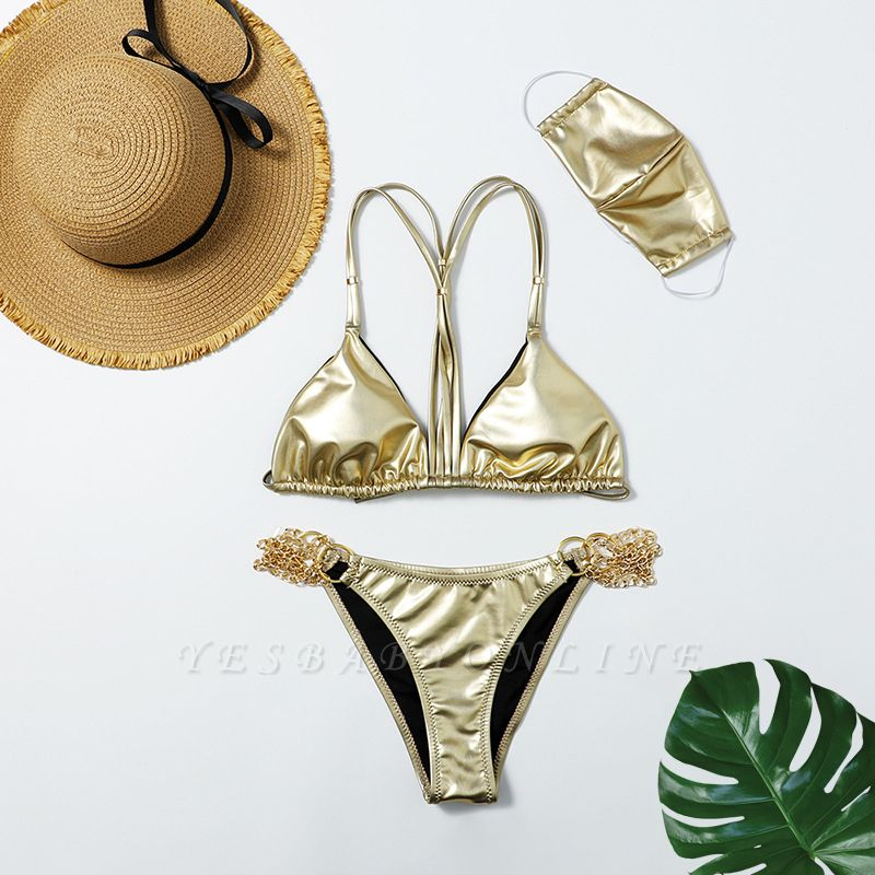 Sexy Split Three-pieces Bikini Swimsuit