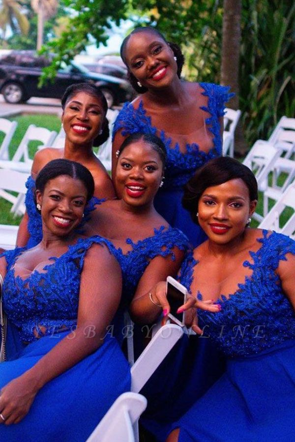 Sexy Straps A Line Bridesmaid Dresses For Wedding | Applique Party Dress