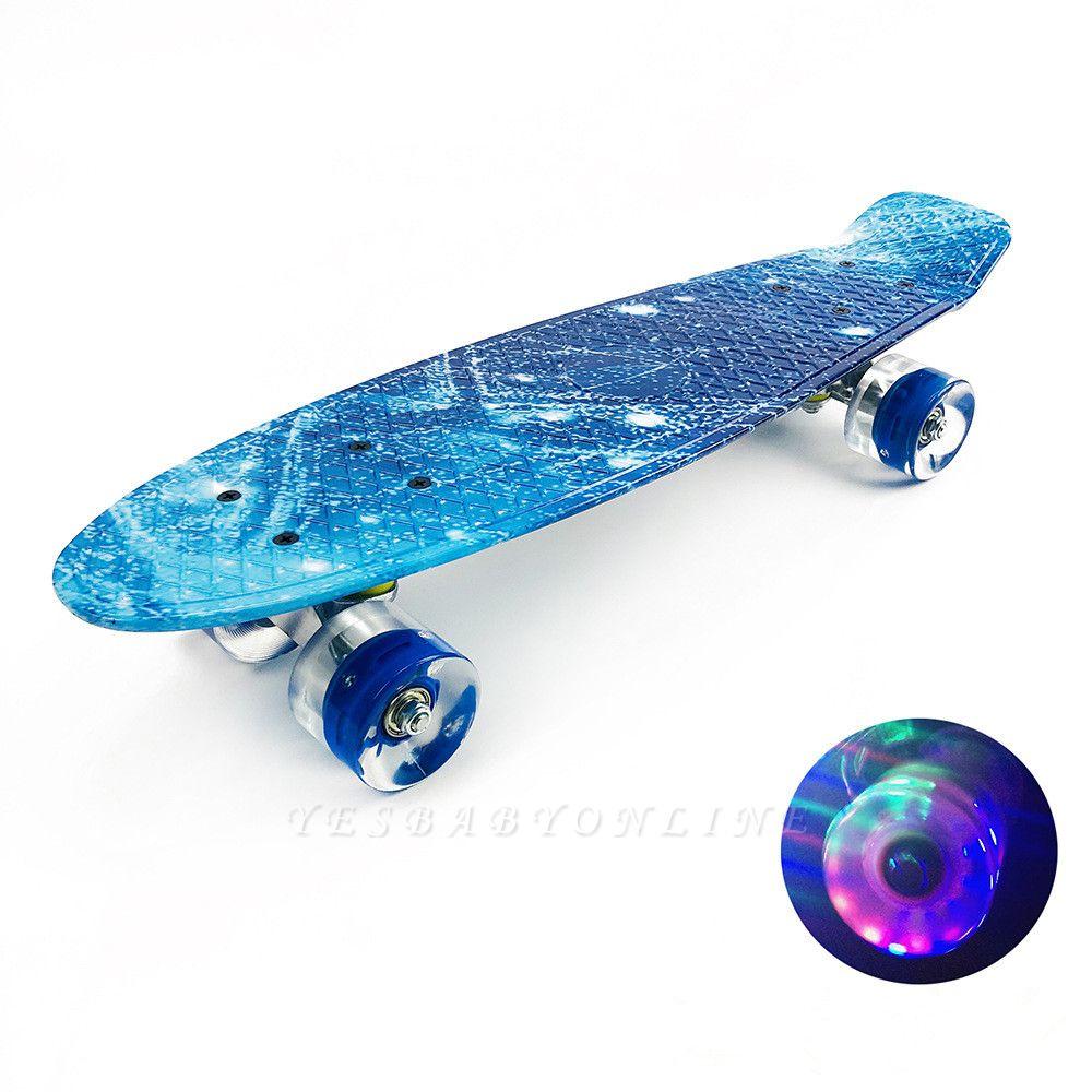 Popular LEd  Wheel  Plastic Skate Board For Kids