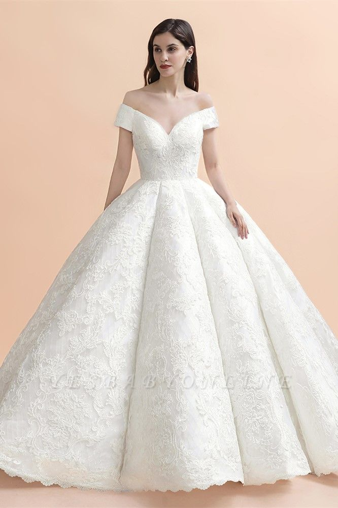 Princess Sweetheart Lace Ball Gown Wedding Dresses | Off The Shoulder Bridal Gown