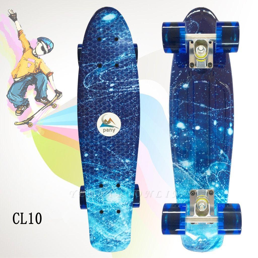 Outdoor Sport Plastic Finger Slide Four Wheel Scooter Kids  Skate Board