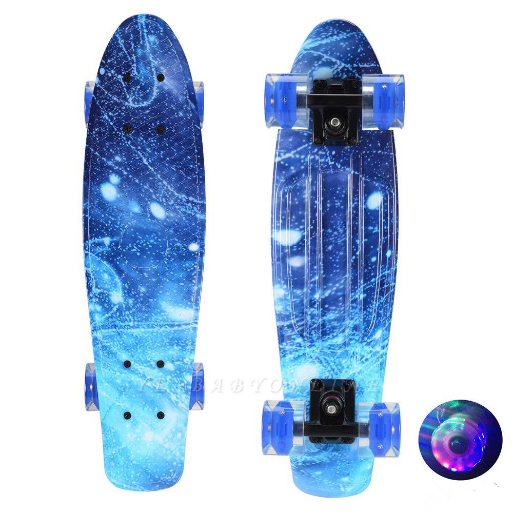 Children Skateboard  With Longboard Four Wheels Double Snubby Wood Skateboard
