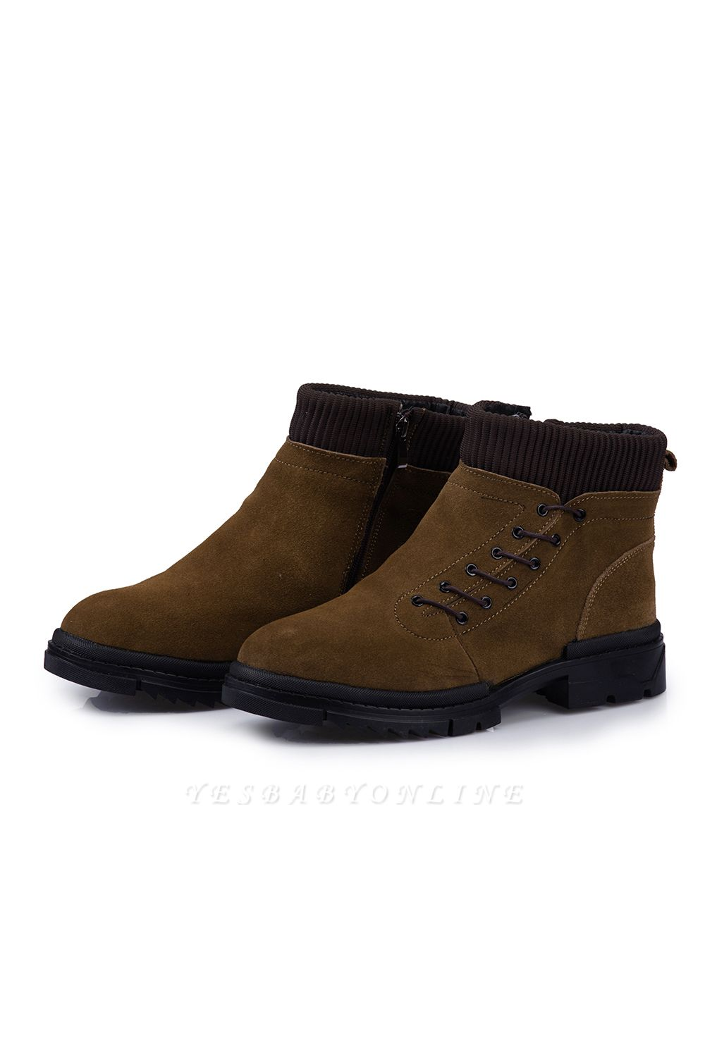Ankle Boots Suede Cotton Warm Fur Lined Anti-Slip Outdoor Booties On Sale