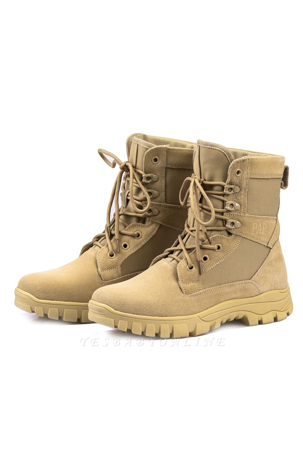 Outdoor Combat Ankle Boots Water Resistant Lightweight Mid Hiking Boots On Sale