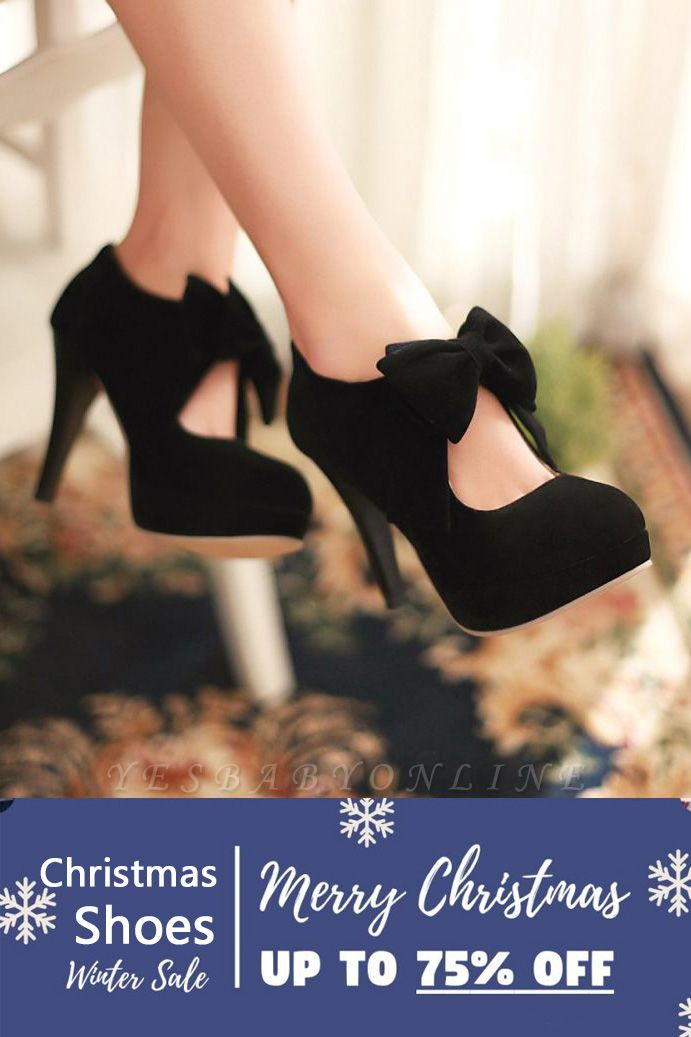 SD1261 Bow Tie Hollow Stiletto Heel Boots Women's Shoes On Sale